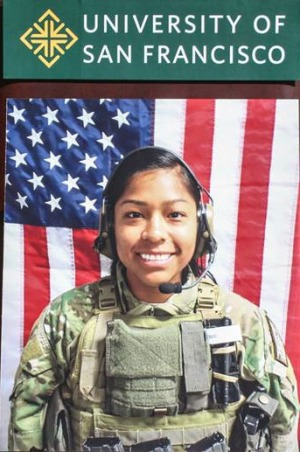 1st Lt. Jennifer Moreno ('10), who was killed by a suicide bomb in Afghansitan on Oct. 6, 2013.