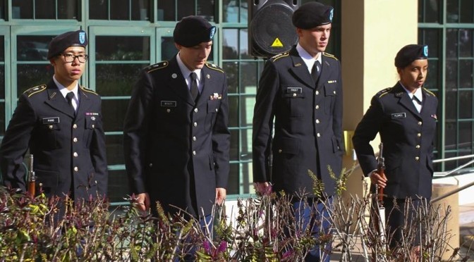 USF's Fallen Soldier Honored by ROTC Color Guard