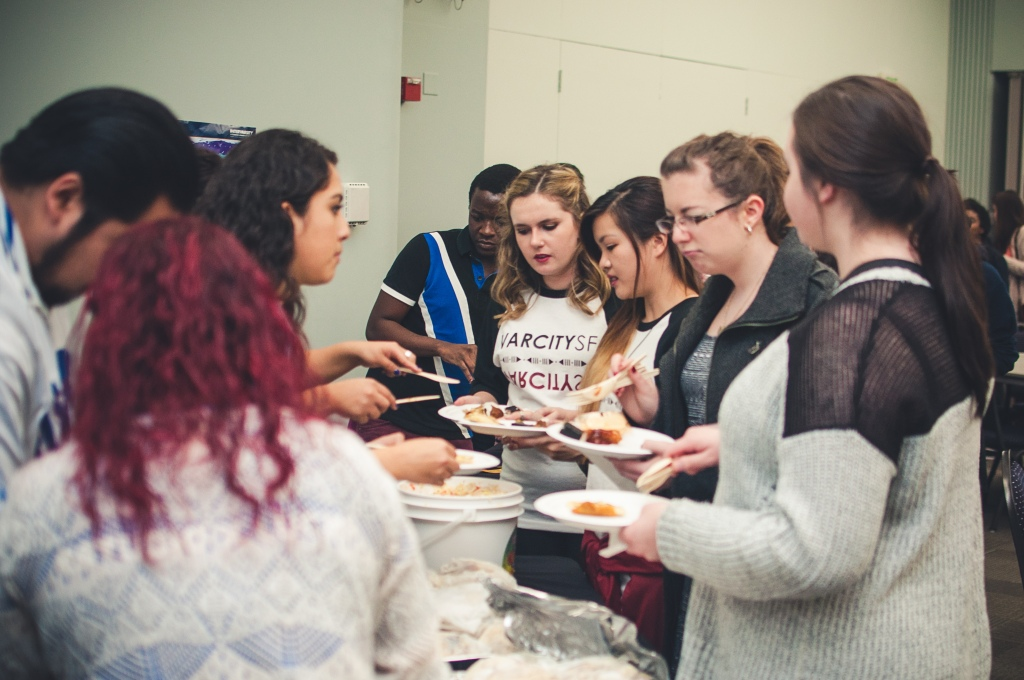 Students went to McLaren Hall after the performances at the Presentation Theatre to feast on Filipino, Indian, Brazillian, Chinese, Vietnamese, Korean, Portuguese, and Salvadoran food.
