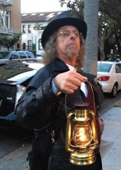 Jim Fassbinder leads the San Francisco Ghost Hunt, which is a ghost tour of the Queen Anne Hotel. John Holton/FOGHORN