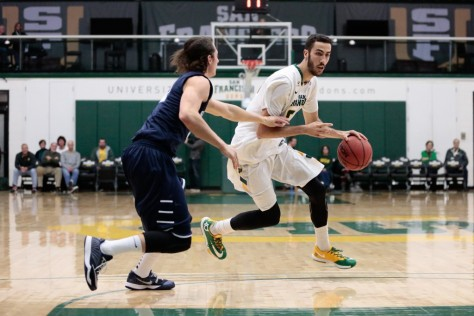 USF has not lost all of their stars, junior forward Mark Tollefsen is still dunking for the Dons. Courtesy of Dons Athletics