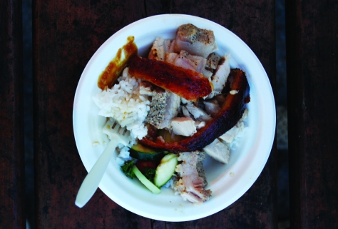 The flavorful Roasted Pork Lechon from Jeepney Guy.